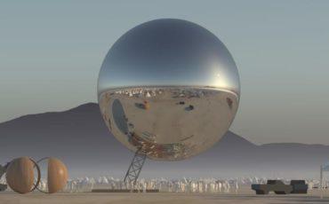 The Orb Burning Man